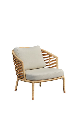 Sense Lounge Chair Natural with Cushion Options