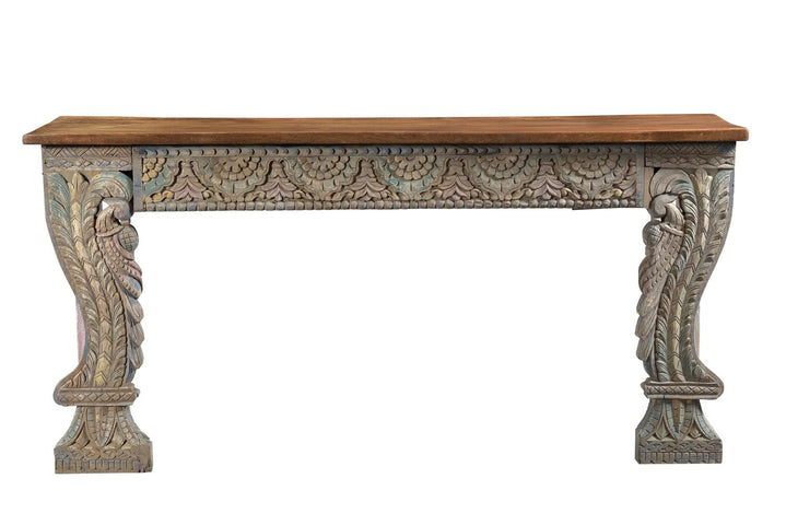 Peacock Console Table