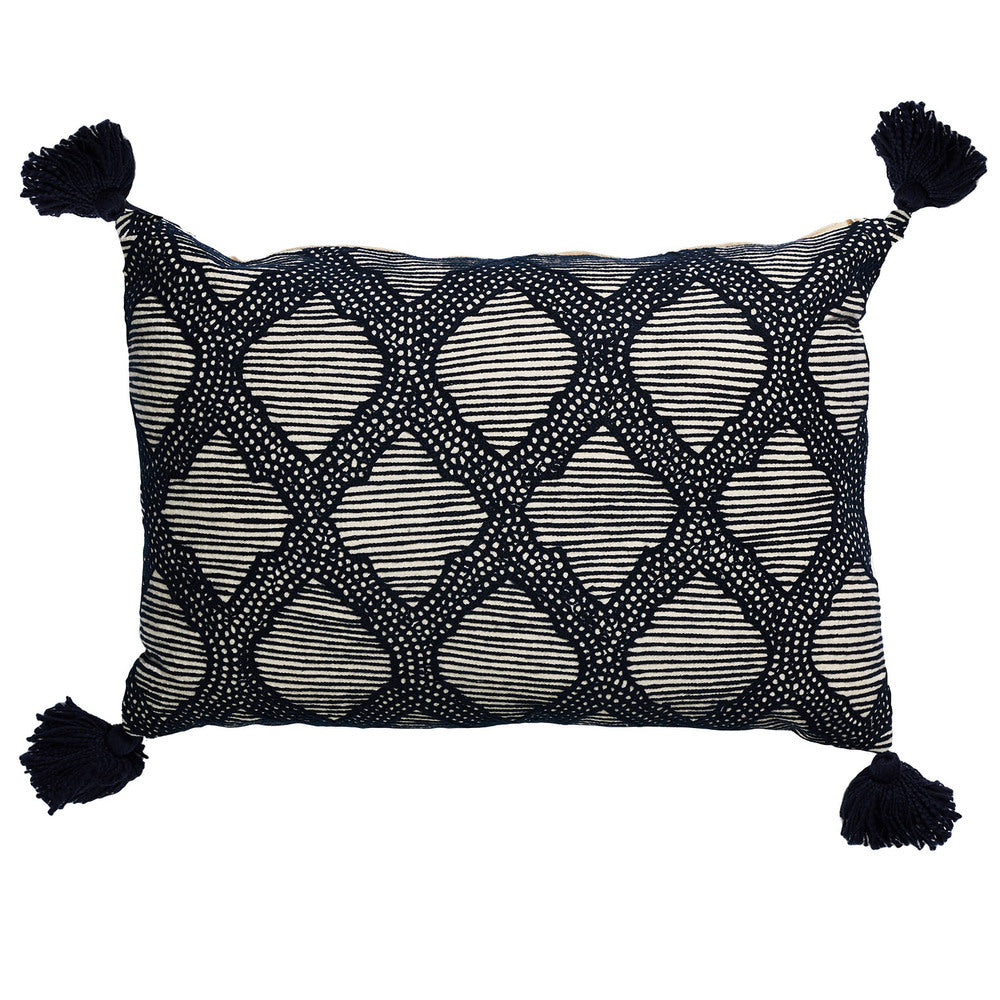 Boho Coastal Hedge Cushion