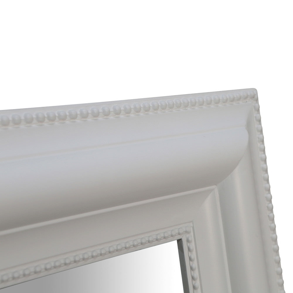 Detailed Bevelled Mirror Matt White