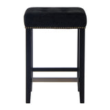 Eli Counter Stool Black Leather