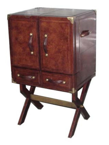 Brenton Bar Cabinet with Stand Dark