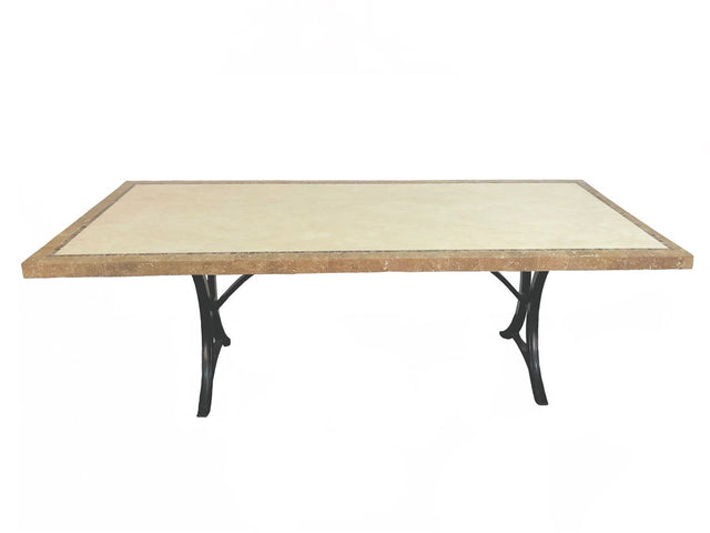 Olympia Travertine Dining Table