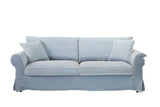 Louise 3 Seat Sofa Linen Blue