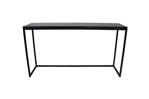 Jose Console Black with Clear Glass