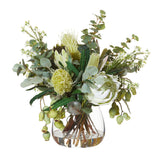 Native Mix in Garden Vase Green