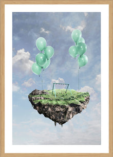 Floating Playground Print with Frame