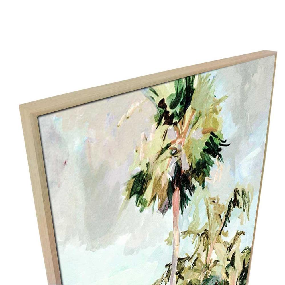 Feliz Canvas Painting with Floating Frame