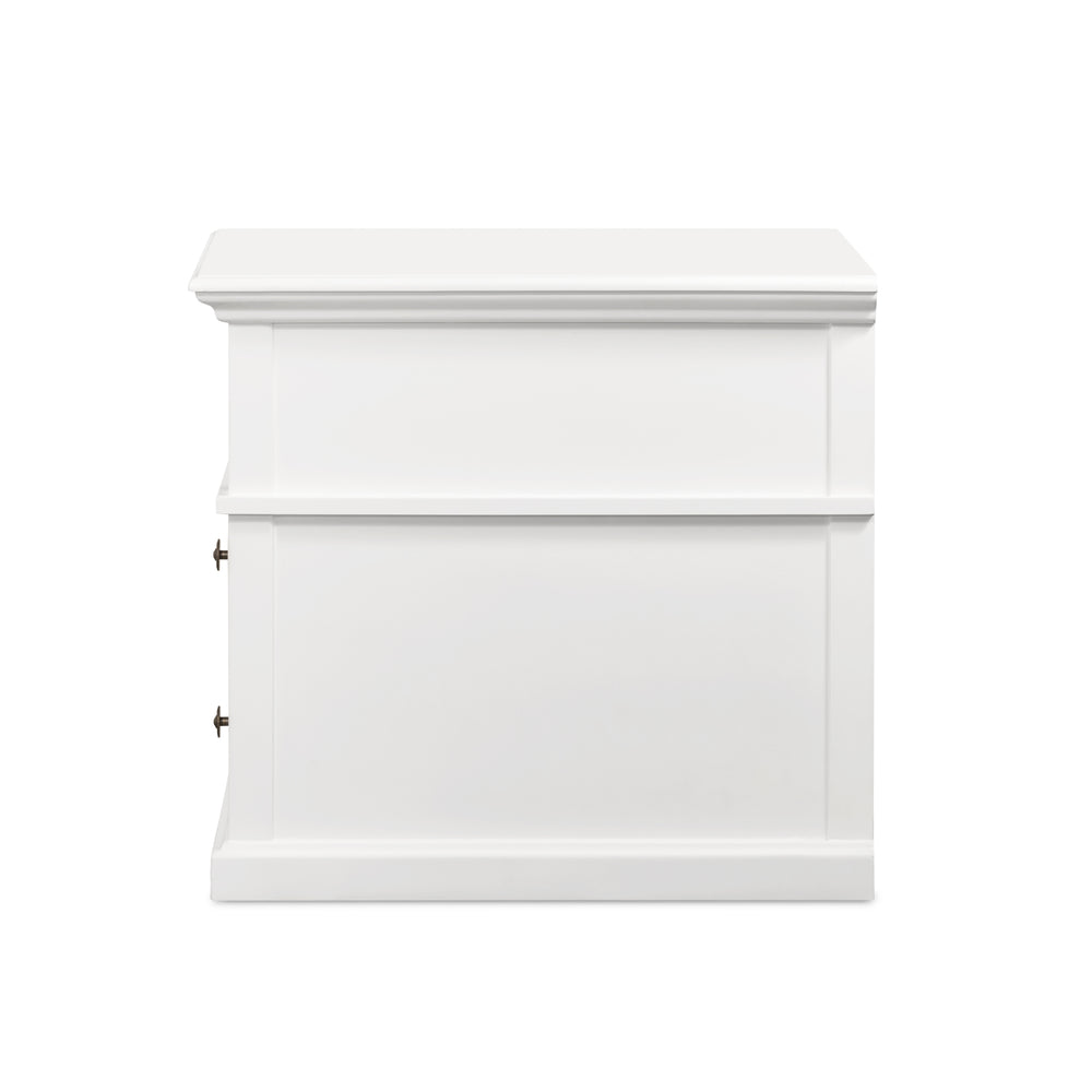 Sorrento 2 Drawer Bedside Large White