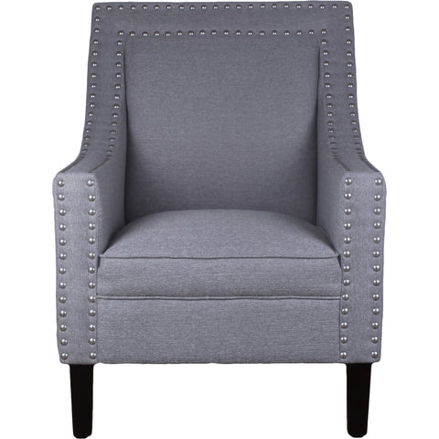 Bordeaux Linen Arm Chair Light Grey