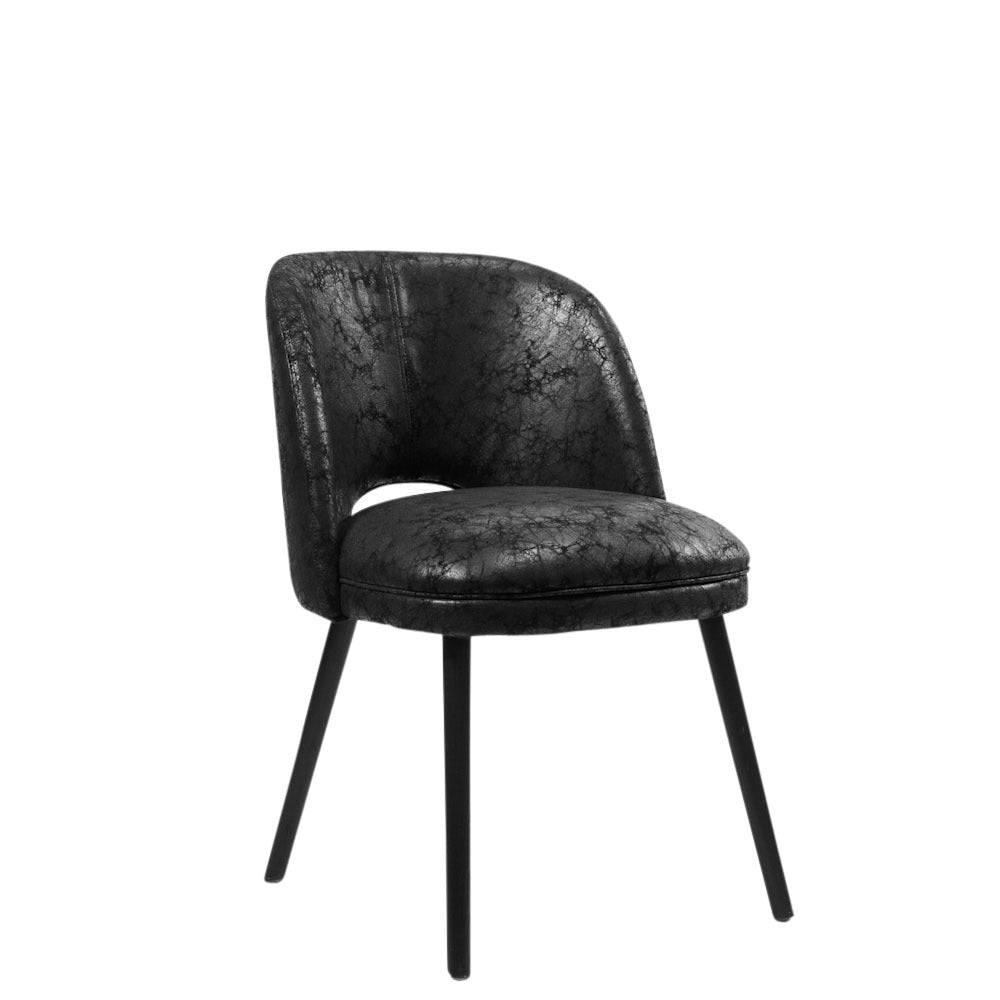 Doma Chair Soft Black Leather