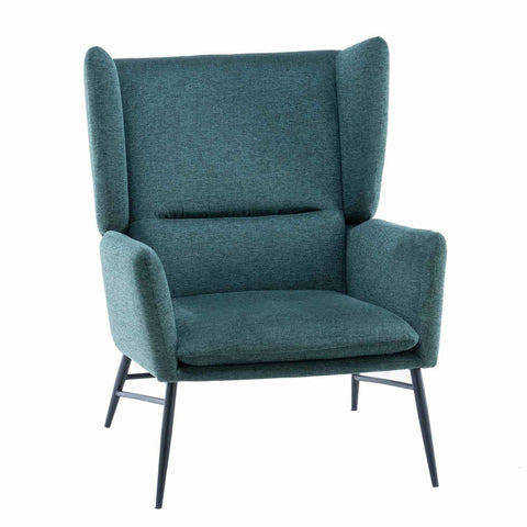 Holmes Wing Chair Forest Green