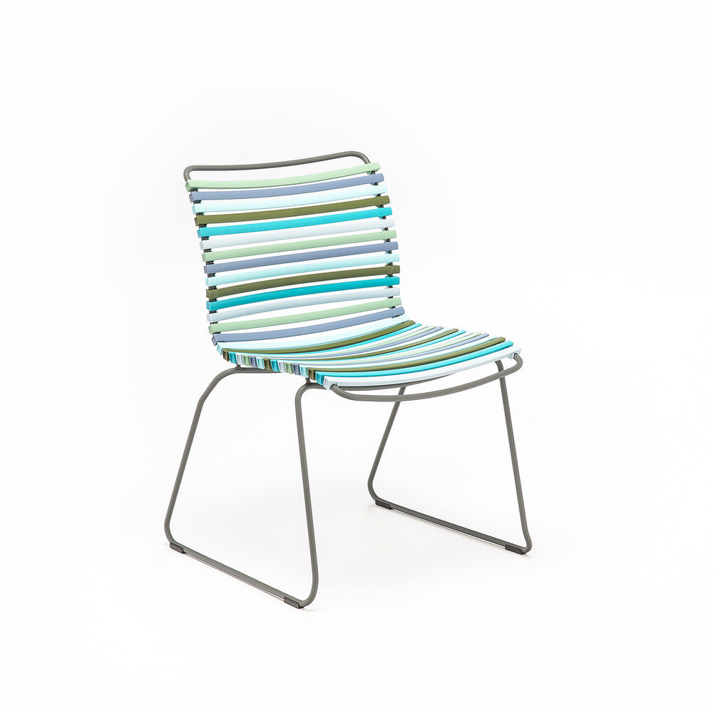 Click Outdoor Dining Chair Multi Green & Blue Palette