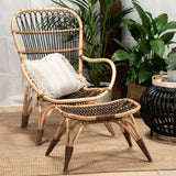 San Blas Armchair with Stool Set Coffee