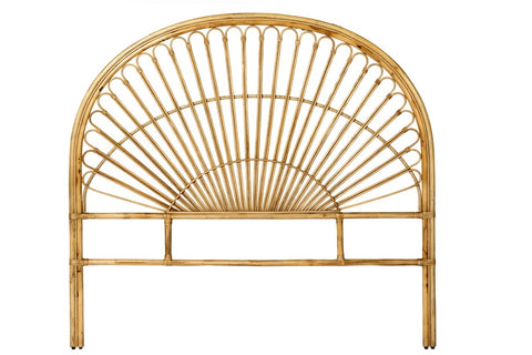 St Germain Rattan Bed Head Queen