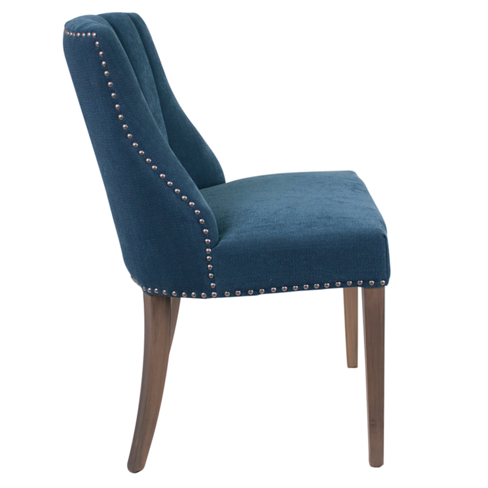 Stanton Dining Chair Tufted Blue