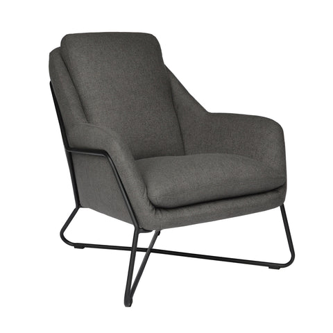 Tribeca Armchair Charcoal with Matte Black Frame