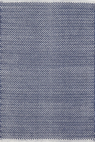 Herringbone Cotton Rug Indigo