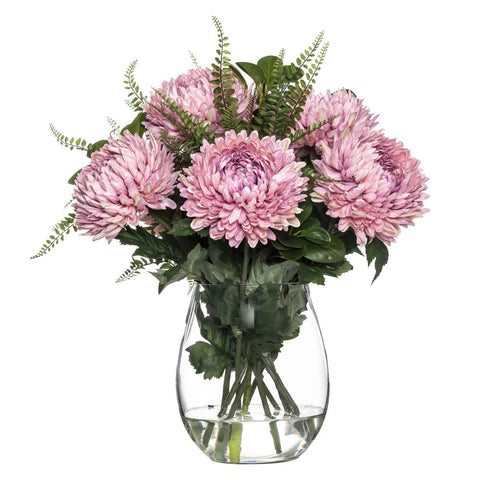 Chrysanthemum Mix in Claire Vase Pink