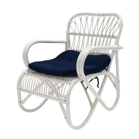 Lewis Chair White/Navy