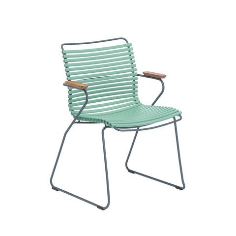 Click Armrest Outdoor Dining Chair Olive Green