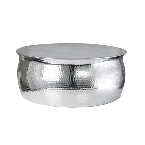 Modisha Hammered Coffee Table Silver