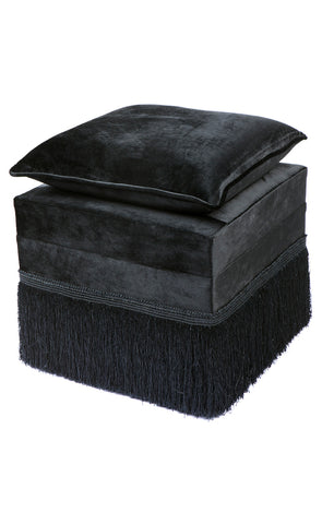 Shell Velvet Sofa Black