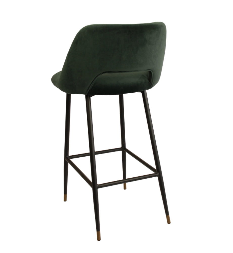 Milan Bar Stool Dark Green