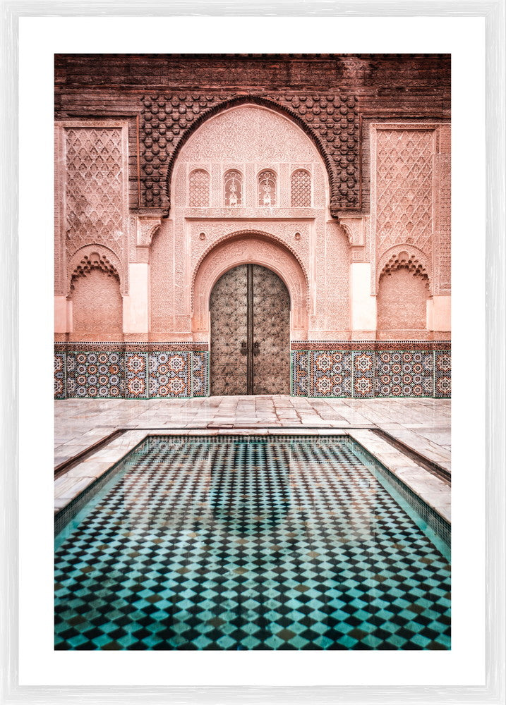 Madrasah Courtyard Paper Photographic Print with Frame