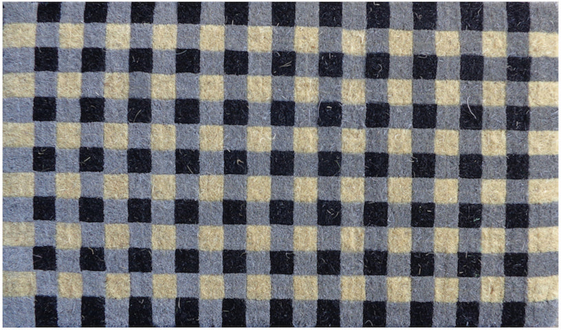 Gingham Check Regular Doormat