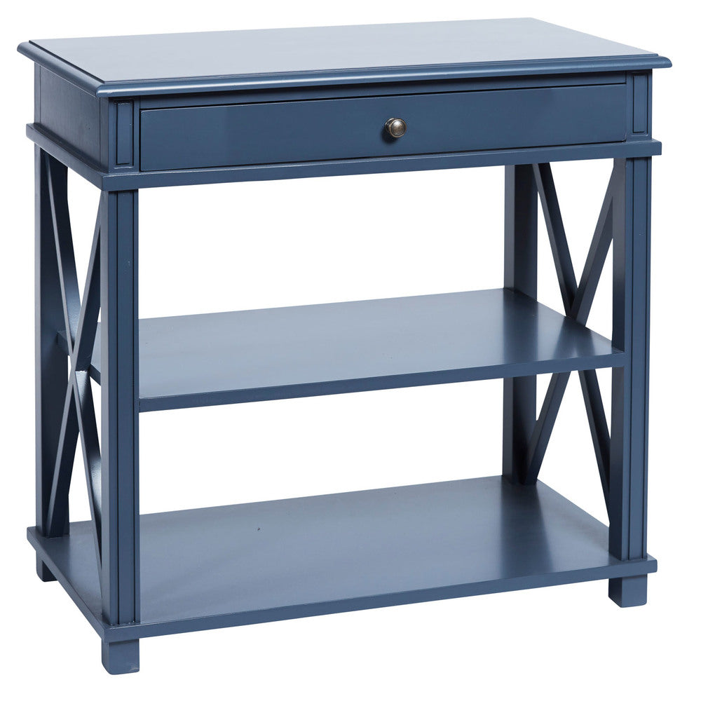 Manto Large Bedside Table Blue ...