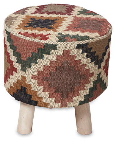 Tribal Kilim Low Stool