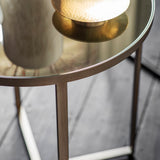 Stratford Side Table Brushed Nickel