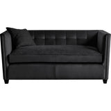 Buckingham 2 Seater Sofa Black Velvet