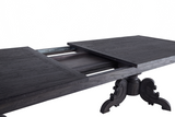 Dominican Extension Dining Table Charcoal