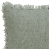 Indira Minty Fringe Cushion
