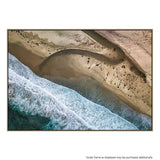 Big Sur Arial Canvas Print with Floating Frame