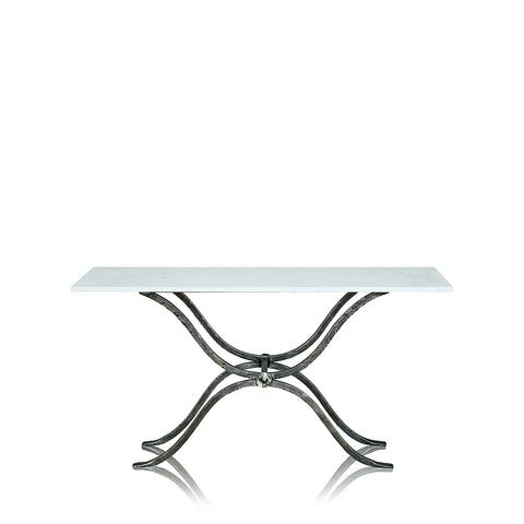 Reflective Console Table Clear Glass