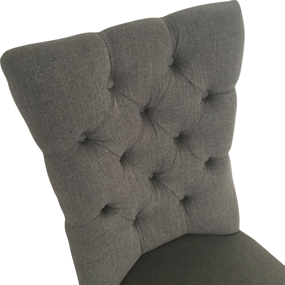 Linen Dining Chair Storm Grey