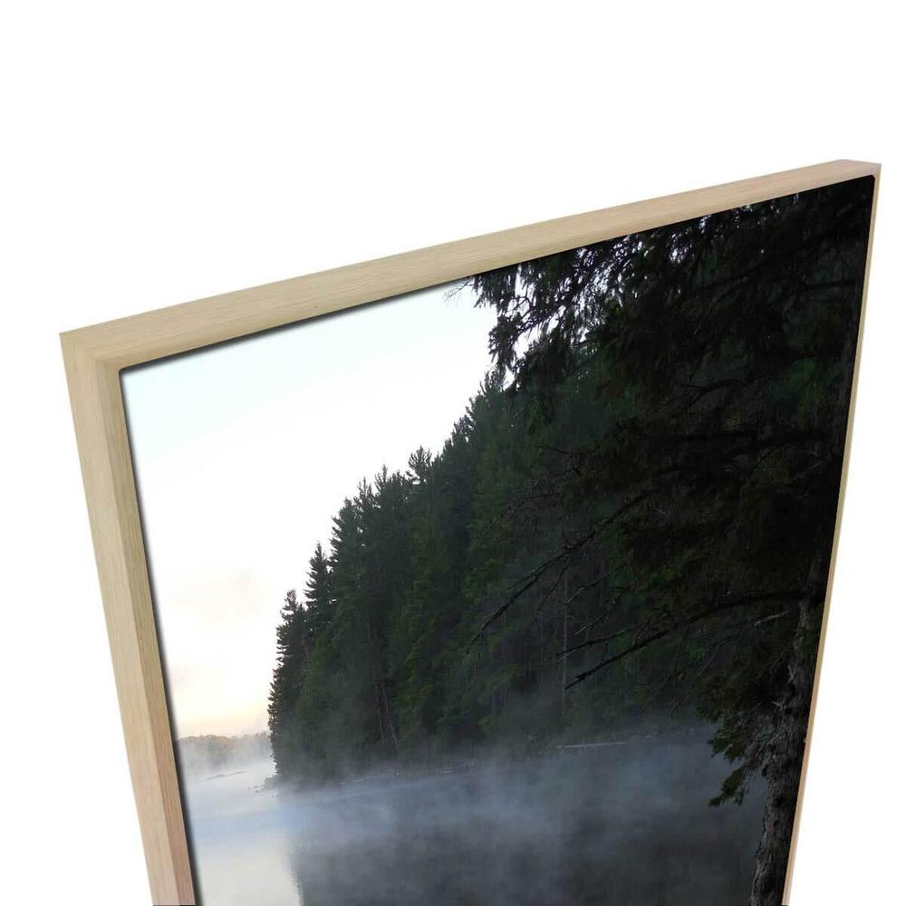 Tributary 1 Canvas Print with Floating Frame