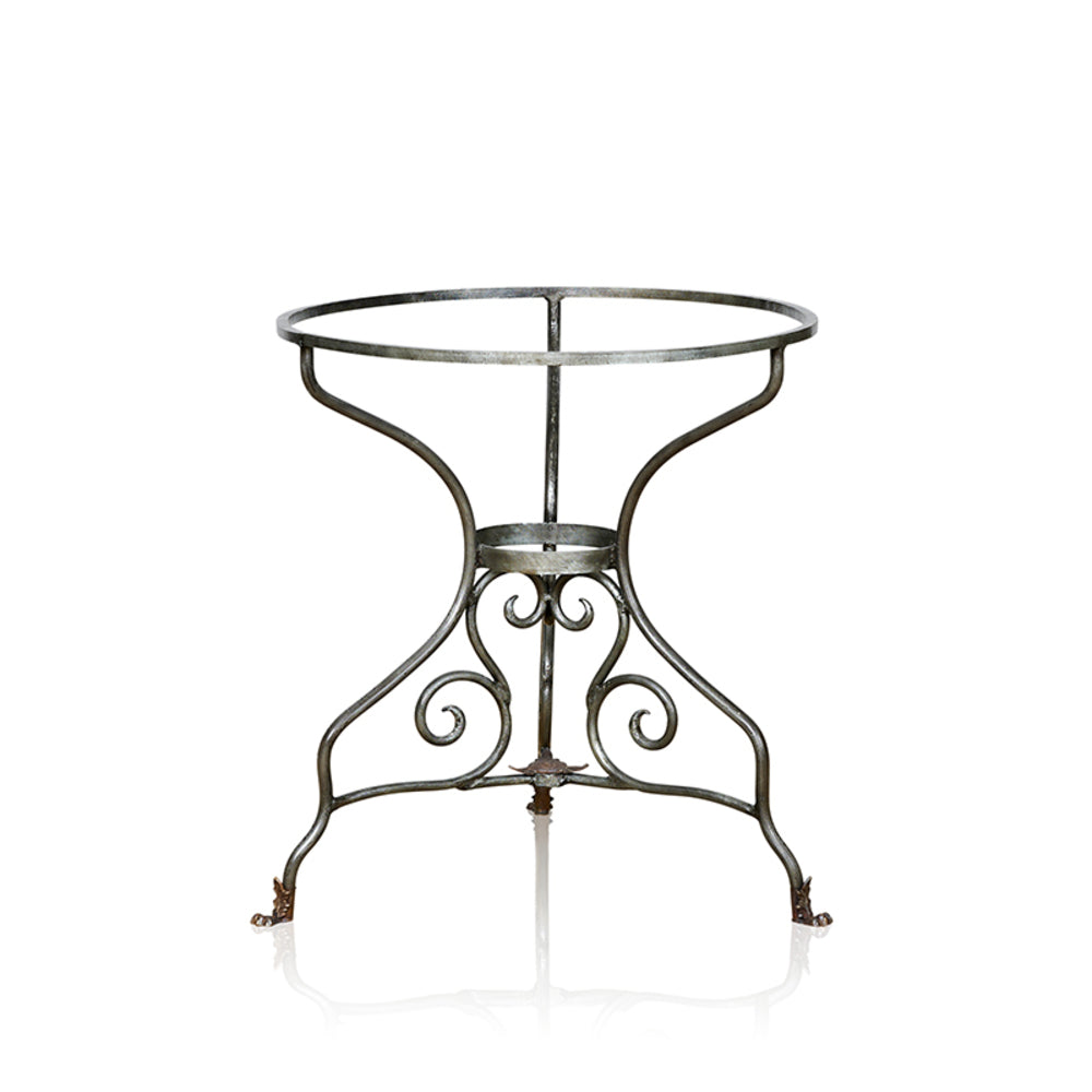 La Tour Wrought Iron Dining Table With Marble Top