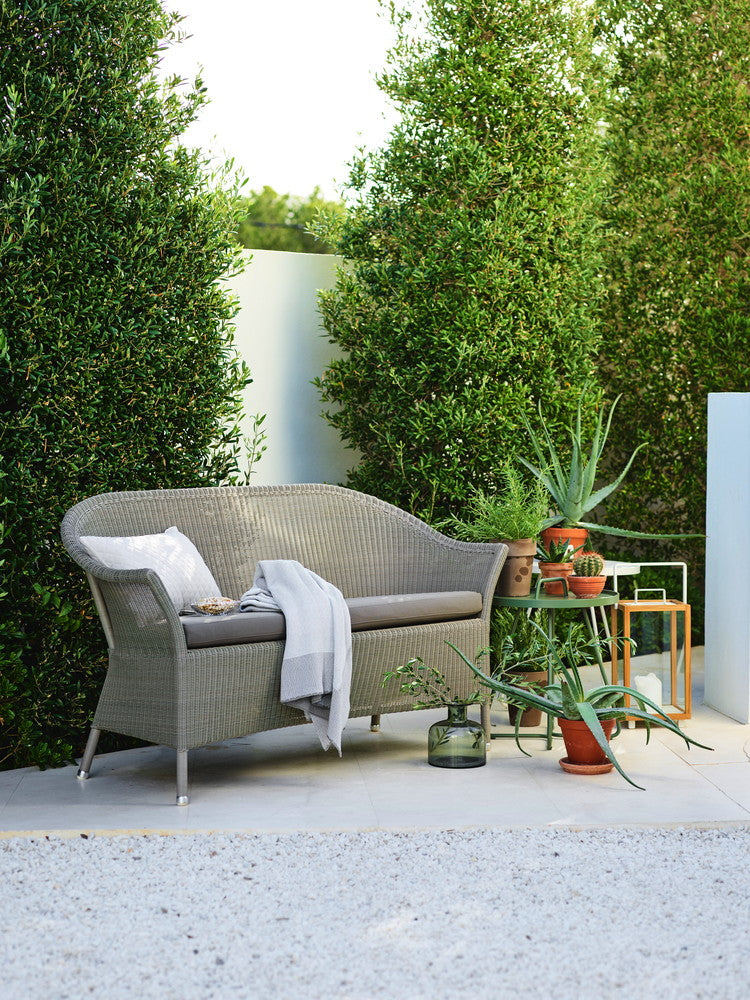 Lansing Outdoor 2 Seat Sofa Taupe with Cushion Options