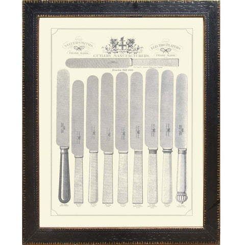 Victorian Fish Knives and Forks Print