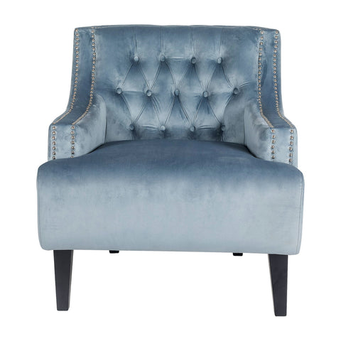 Fairfield Armchair Dove Grey Velvet