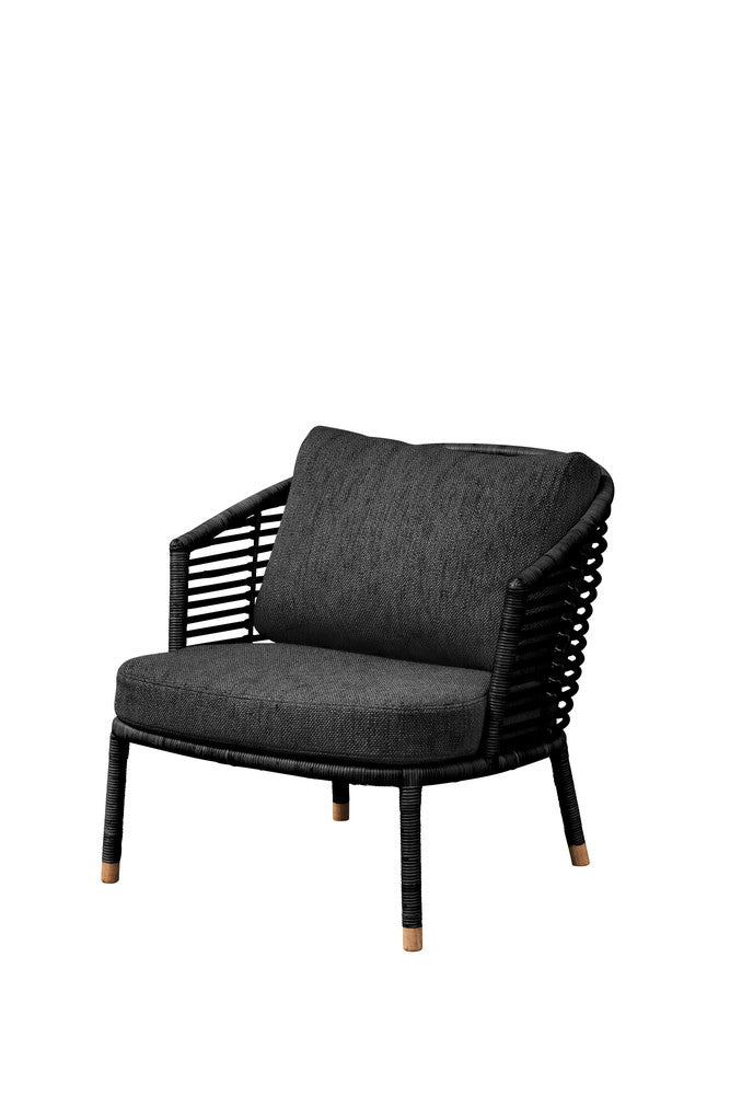 Sense Lounge Chair Black with Cushion Options