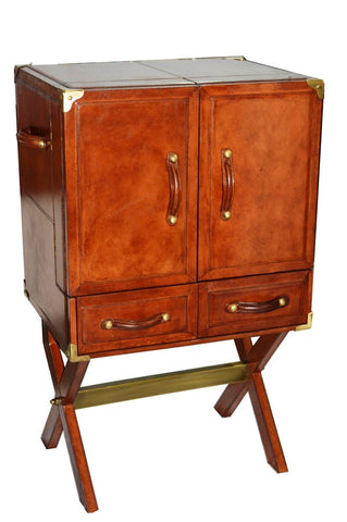 Brenton Bar Cabinet with Stand Tan