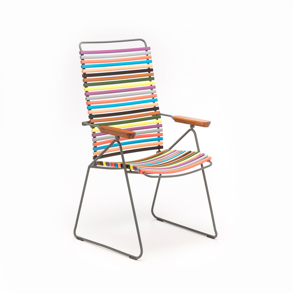 Click Position Outdoor Dining Chair Multi Red & Yellow Palette