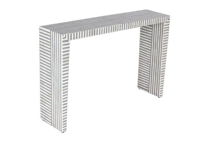 Nashik Bone Inlay Linear Console Grey