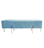 Coco Quilted Bench/Ottoman Dusty Blue