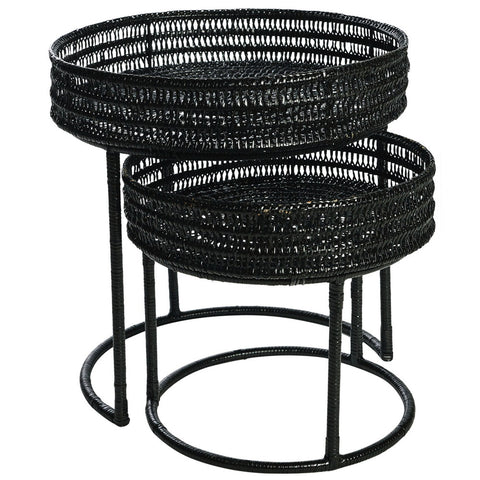 Pavillion Round Nesting Tables Set/2 Natural